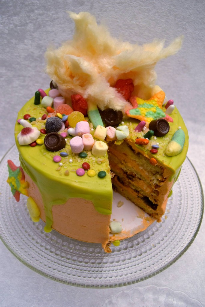 Candyland - Vanilla Cake With Milka Chocolate & Orange Flavored Buttercream