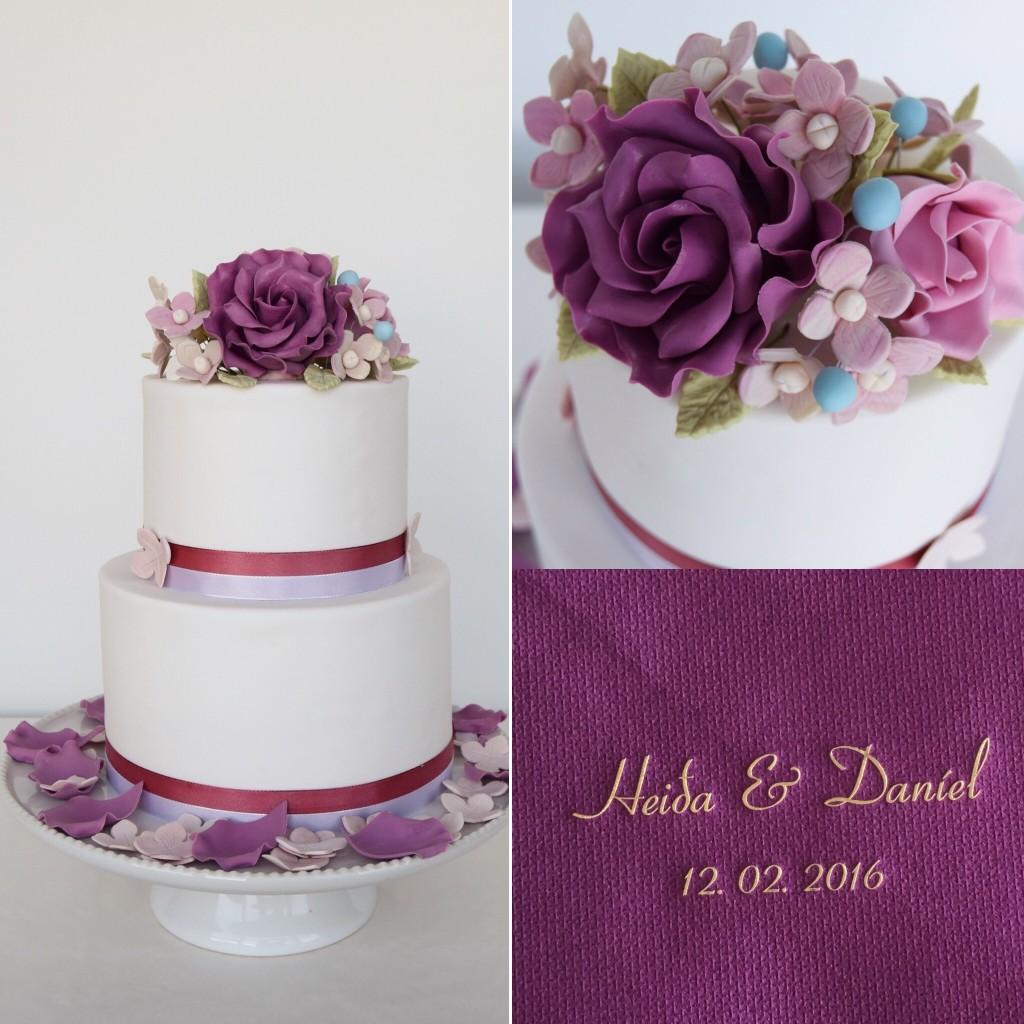 Brúðarterta - Wedding cake - www.alltsaett.com